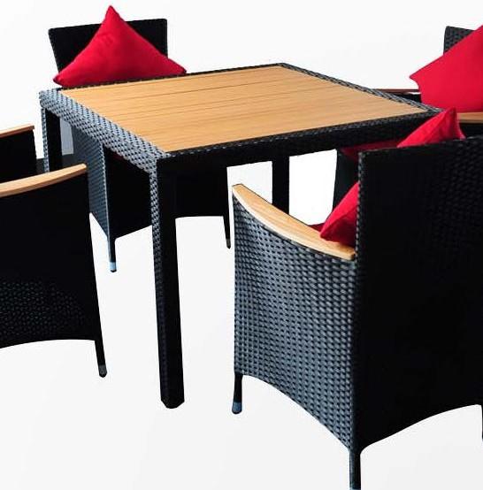 Polyrattan Tisch Cordoba Polywood ohne Stühle von Garino