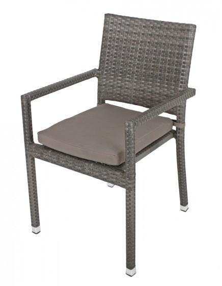 Sitzkissen für Stapelstuhl Santa Clara grau