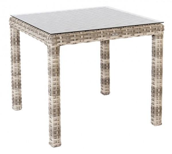 Stern Tischgestell 80x80 cm Aluminium graphit mit Vierkantrohr