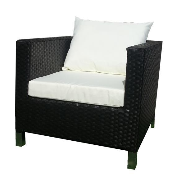 Polyrattan Sessel Komforthöhe Esshöhe braun von GARINO® Premium