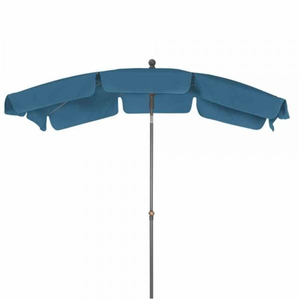 SIENA GARDEN Tropico 210x140 cm, UPF 50+ Mittelstockschirm, 4-teilig, Stahlrohrgestell anthrazit, 27/30 mm, Polyester 180g/m², petrol