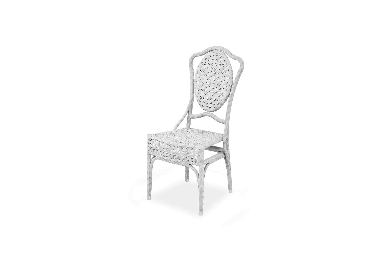 Stuhl Elegante Weiß Sessel & Stühle