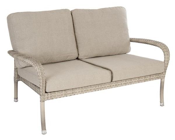 Alexander Rose Fiji 2-Sitzer Sofa mit Kissen, stapelbar