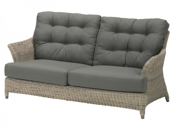 4 Seasons Outdoor - Serie Valentine, 2,5 Sitzer Sofa, Pure