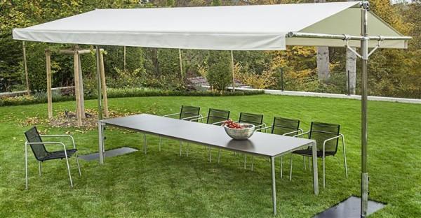 FISCHER-MÖBEL Woodline Piuma Aluminium und Edelstahl 300x400 cm