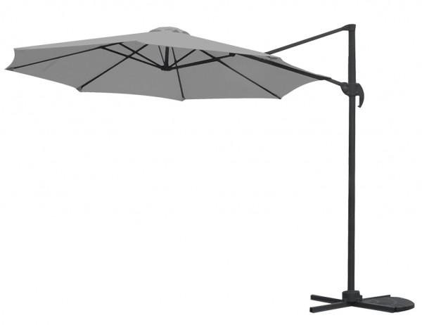 GARDEN Impressions Hawaii Sonnenschirm S Ø300 matt Royal Grey/Dunkelgrau