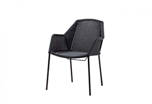 Cane-line Breeze Stuhl, stapelbar, in verschiedenen Farben erhältlich schwarz Taupe