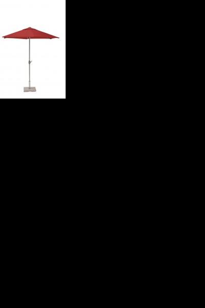 KETTLER Kurbelschirm Ø 300 cm, silber/rot