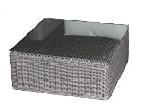 Polyrattan Lounge-Tisch Lucca grau von GARINO® Premium