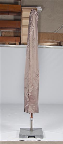 Schutzhülle für Sonnenschirme mit Mittelstock bis maximal 450 cm Durchmesser Polyester Farbe taupe