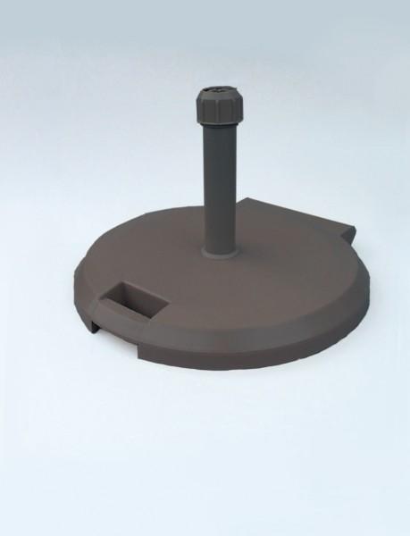 Rollenständer 38kg, betongefüllt, anthrazit Alu-Rohr, Durchmesser 60 cm, für Schirmstock 26-55 mm SonnenPartner (61055-412-106)