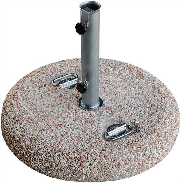 GRAVA Kiesbeton-Schirmständer 55cm, terra/sand