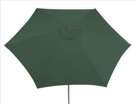 SIENA GARDEN Push Schirm PRO 300 grün Gestell:silber,Poly:grün