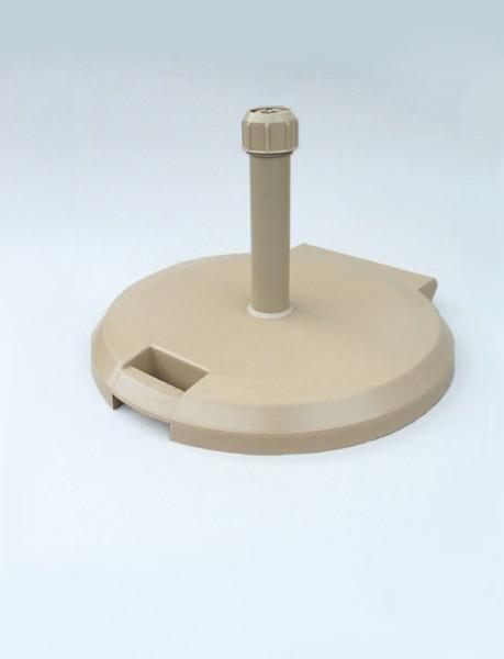 Rollenständer 38kg, betongefüllt, sandstone, Alu-Rohr, Durchmesser 60 cm, für Schirmstock 26-55 mm von SonnenPartner (61055-419-117)