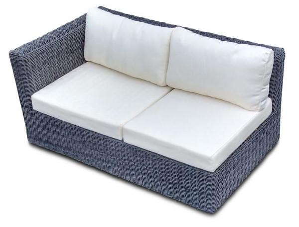 Polyrattan Sofa 2-Sitzer Skyline grau von GARINO® Premium