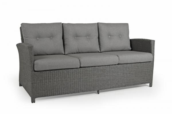 Brafab Soho 3-Sitzer Sofa grau Inkl. Kissen
