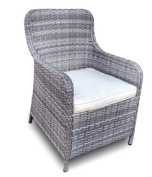 Polyrattan Stuhl Santa Cruz von GARINO® Premium, in grau oder braun erhältlich
