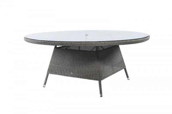 Stern Tischgestell 80x80 cm Aluminium Taupe