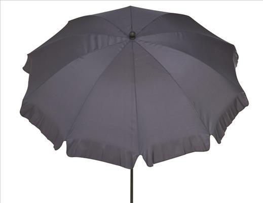 SIENA GARDEN Schirm 200/8t. Poly grau Gest anthr/Pol grau UV+50