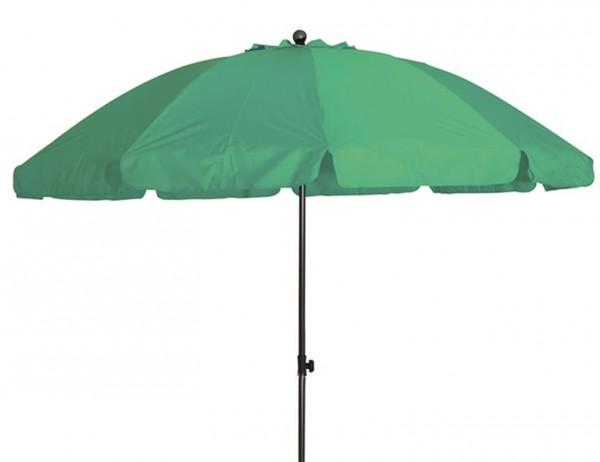 SIENA GARDEN Tropico 200 cm, UPF 50+ Mittelstockschirm, 8-teilig Stahlrohrgestell anthrazit, 22/25 mm, Polyester 180g/m², limette
