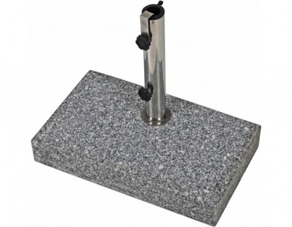 Balkon-Schirmständer 25kg, rechteckig Granit / Stahl
