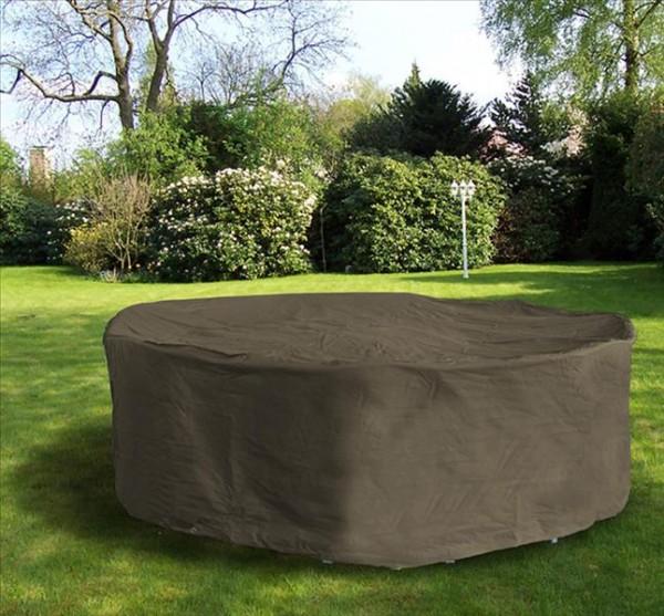 Schutzhülle für Sitzgruppe oval 230x135 Polyester anthrazit