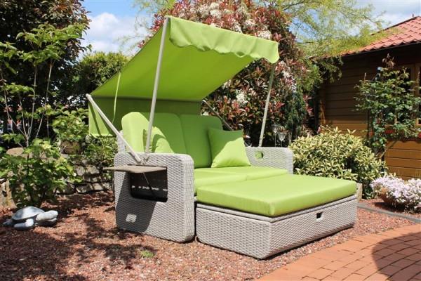 Wohlfühl-Rattan-2-Sitzer grün