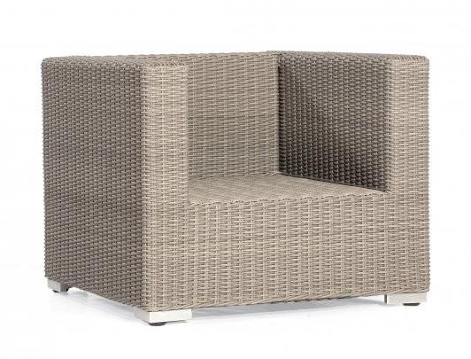 """Lounge-Sessel """"Residence"""" Kunststoffgeflecht stone-grey Aluminium-Gestell SonnenPartner"""
