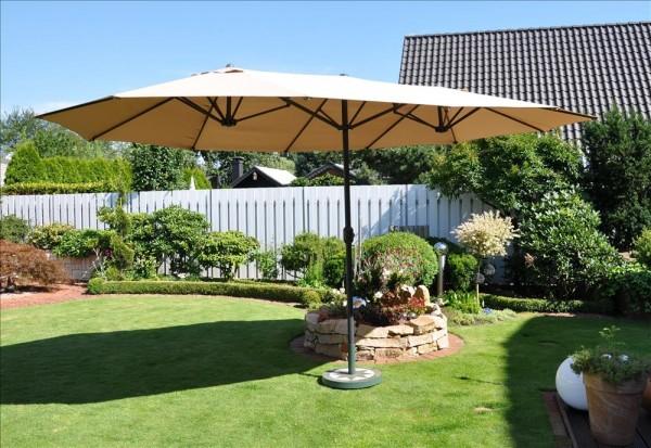 Oval-Schirm 2,70 x 4,60 m natur