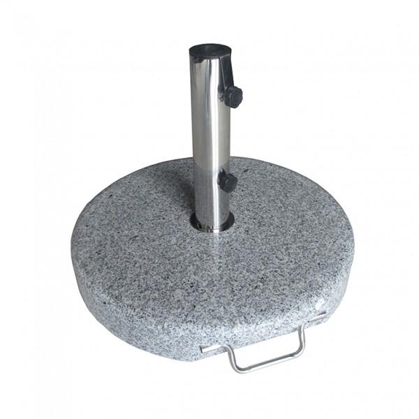 Schirmständer granit 40 kg rund mit Griff