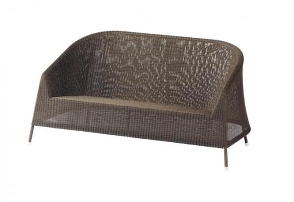 Cane-line Kingston 2 Sitzer Lounge Sofa, braun
