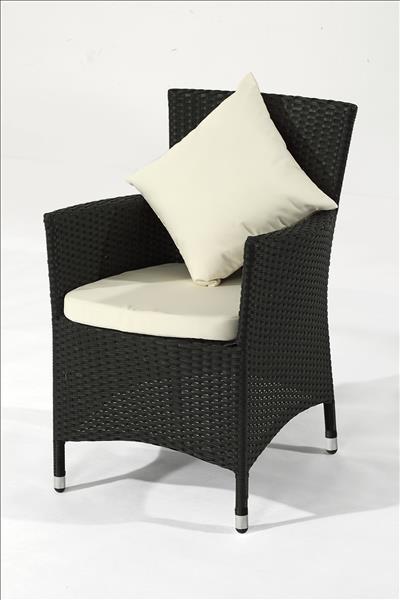 Polyrattan Stuhl Palu schwarz 2er Set