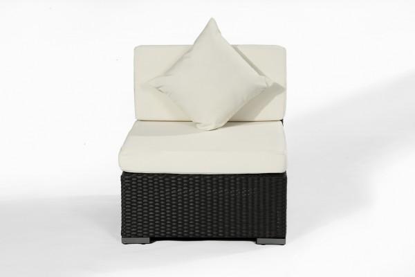 Polyrattan Hocker 5080 schwarz von GARINO®