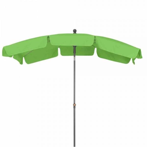 SIENA GARDEN Tropico 210x140 cm, UPF 50+ Mittelstockschirm, 4-teilig, Stahlrohrgestell anthrazit, 27/30 mm, Polyester 180g/m², limette