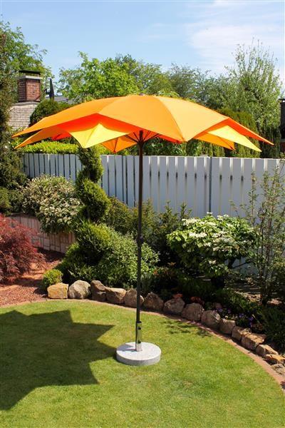 Schirm Blüte gelb-orange