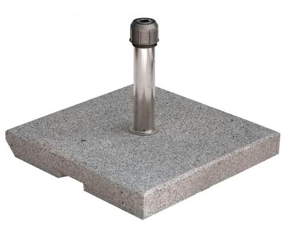 Granitständer grau 40kg, 55x55x5 cm, für Schirmstock bis 55 mm von SonnenPartner (8442-376-170)