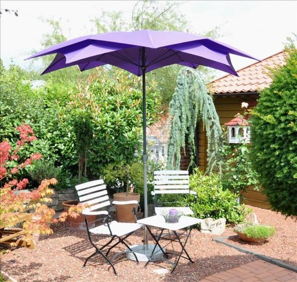 Schirm Blüte violett