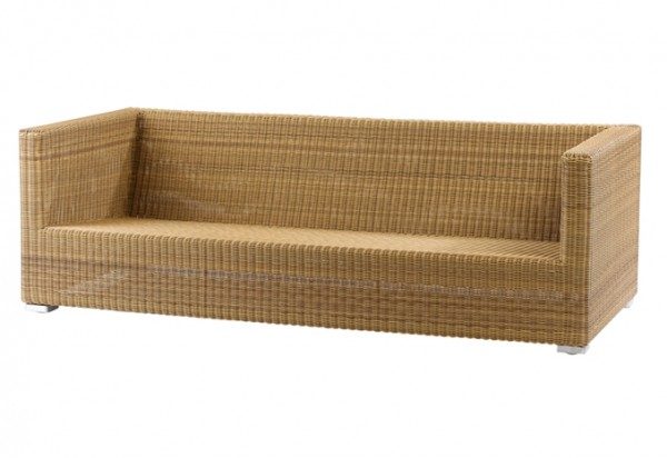 Cane-line Chester 3 Sitzer Loungesofa, in natur oder graphit erhältlich