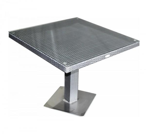 Polyrattan Tisch 90 x 90 cm braun von GARINO® Premium