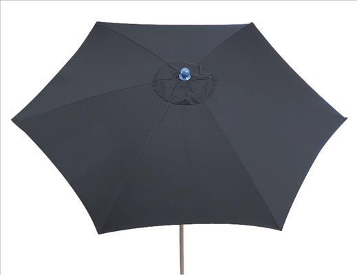 SIENA GARDEN Push Schirm PRO 300 blau Gestell:silber,Poly:blau