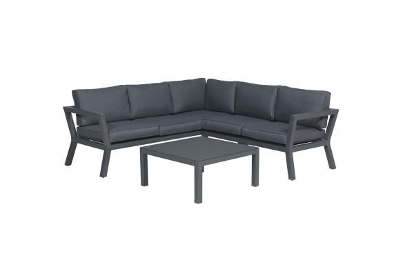 GARDEN Impressions Colorado Loungeset 3-teilig carbon black/reflex black