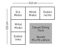 KETTLER Ocean Modular Set 3 inkl. Kissen